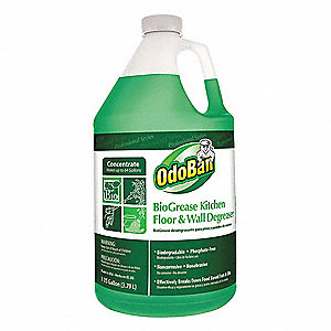 Unscented BioGrease Kitchen, Floor and Wall Degreaser Concentrate, 1 gal. Bottle