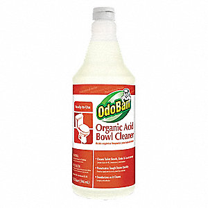 Toilet Bowl Cleaner, 1 qt. Bottle, Unscented Liquid, Ready To Use, 12 PK