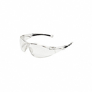 A800 Scratch-Resistant Safety Glasses, Clear Lens Color