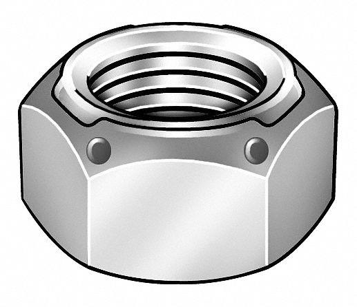 "Fabory U12300.062.0001 5//8/""-11 Grade 2 Zinc Plated Finish Steel Nylon Insert"
