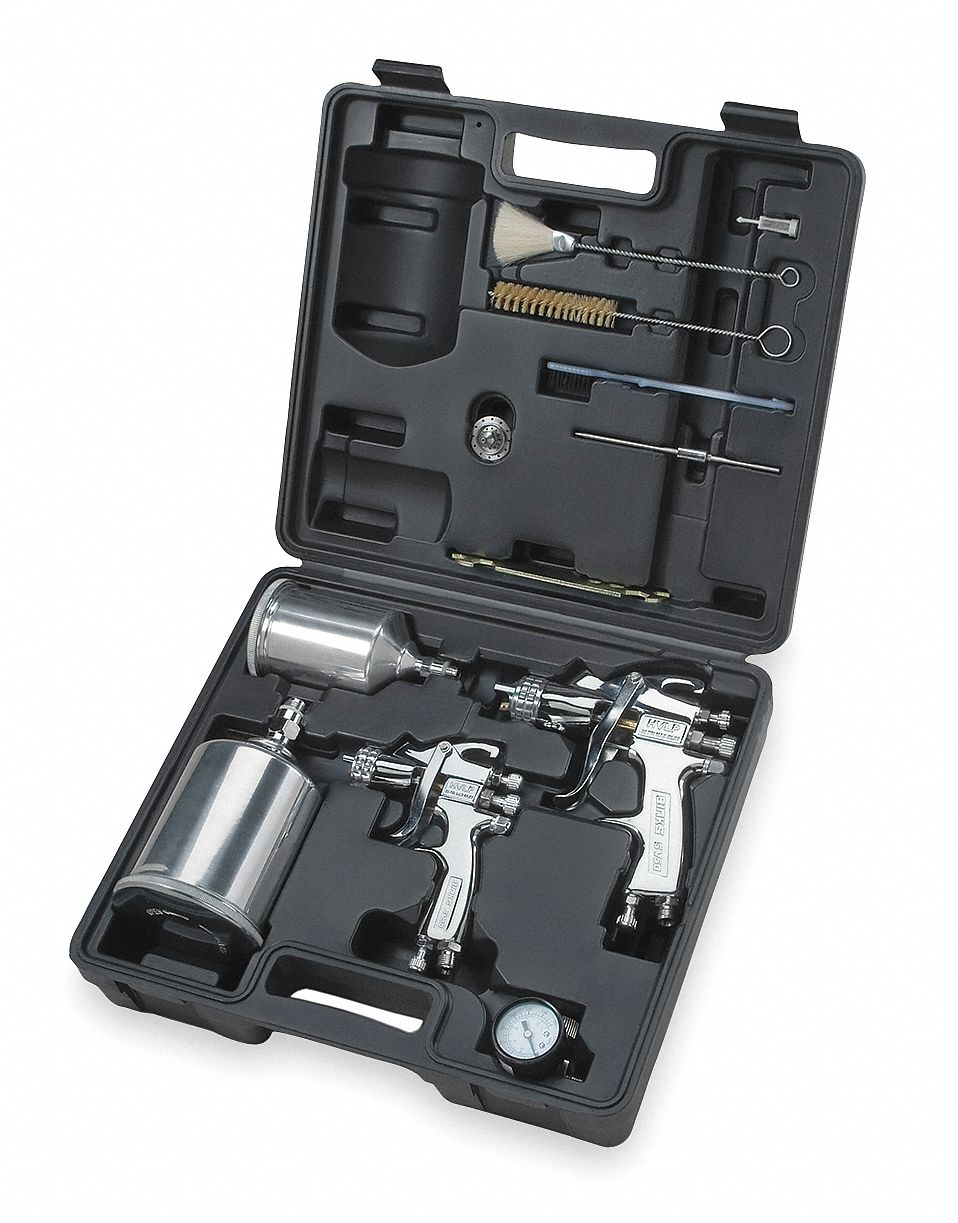 12.0 cfm @ 30 psi HVLP Spray Gun Kit; For Use With Gravity Cup