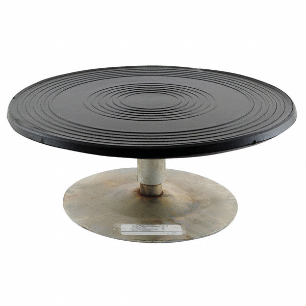 Grainger approved bench top turntable 500 lb 4 in for Car turntable plans
