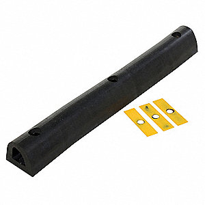 "D-Shape Extruded Rubber Dock Bumper, 4""H x 36""W x 4-1/4"""
