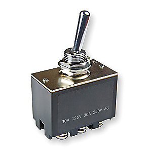 Toggle Switch, Number of Connections: 6, Switch Function: On/Off/On