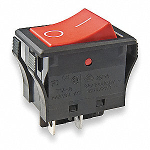 Rocker Switch,SPST,2 Connections