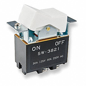 NKK Rocker Switch, Contact Form: DPST, Number of Connections: 4 ...