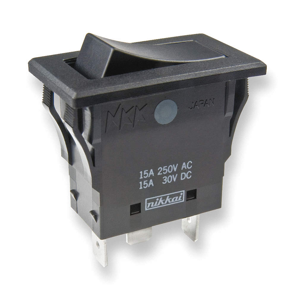 NKK Rocker Switch, Contact Form: SPDT, Number of Connections: 3 ...