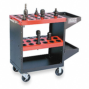 Heavy-Duty CNC ToolScoot, 50 Taper, 35 Height (In.), 35-1/4 Width (In.)