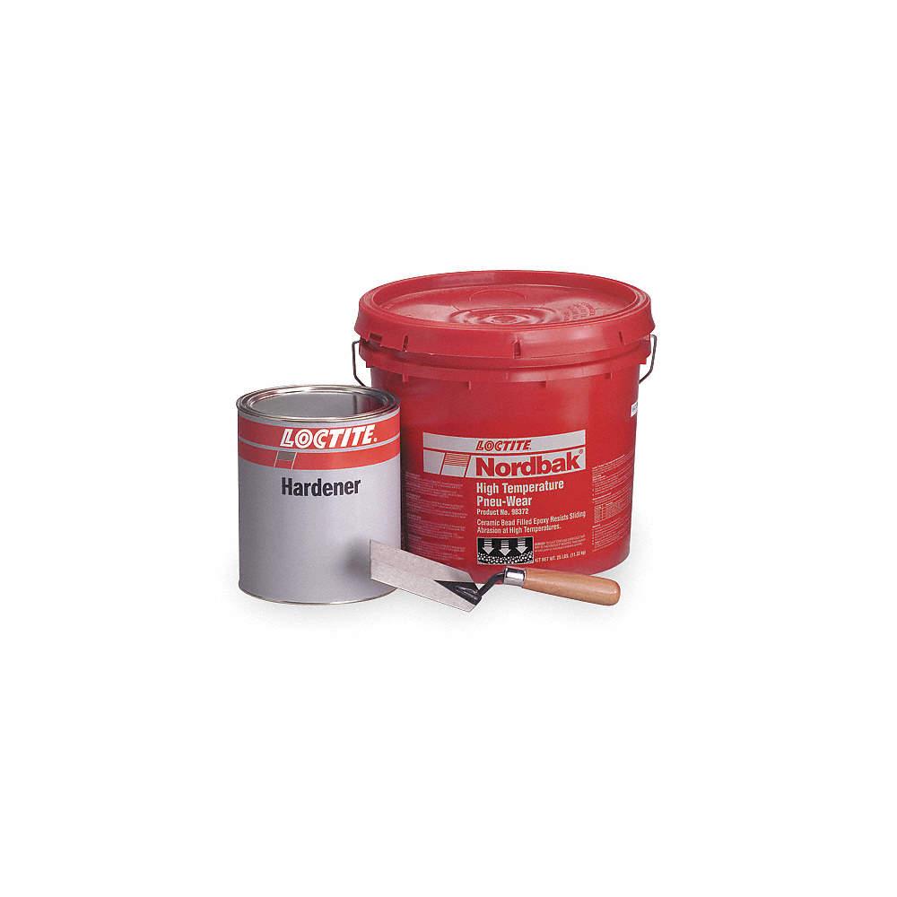 Pneu-Wear Epoxy Adhesive, Pail, 25 lb , Gray, 30 min  Work Life