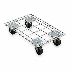 "32-1/2""L x 24-1/2""W x 6""H Silver Dolly, 880 lb. Load Capacity"