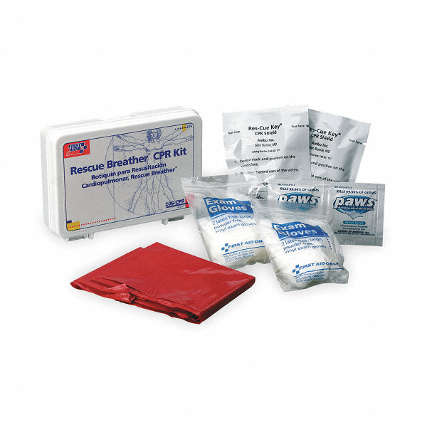 first aid only cpr kit universal case 2tut9 206 cpr grainger