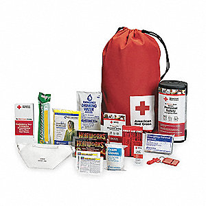 Emergency Preparedness Backpack,Red