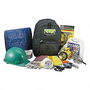 C.E.R.T. Backpack Kit,19 Piece,Green