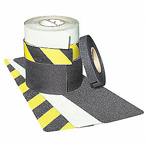 30 ft. x 1 ft. Aluminum Oxide Coated Polyurethane Antislip Tape, Black