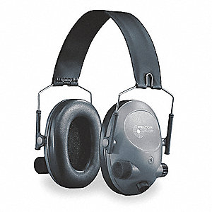 Electronic Ear Muff,19dB,Over-the-H,Gra