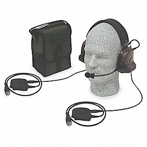 Electronic Ear Muff,21dB,Grn,(1) AA