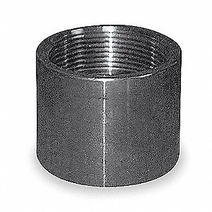 "316 Stainless Steel Coupling, FNPT, 1-1/4"" Pipe Size - Pipe Fitting"