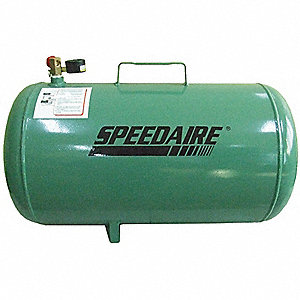 Steel Air Carry Tank, Green Powder Coated