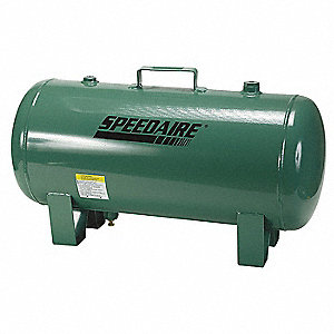 Steel Air Tank, Green Metallic
