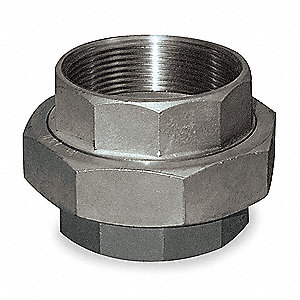 "316 Stainless Steel Union, FNPT, 1/8"" Pipe Size - Pipe Fitting"