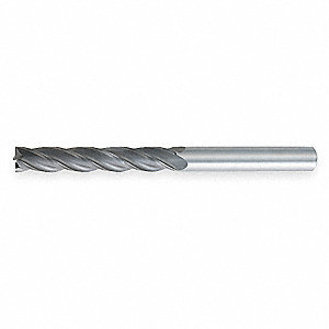 "End Mill, 3/4"" Milling Dia., Number of Flutes: 4, 3"" Length of Cut, TiAlN, 484"