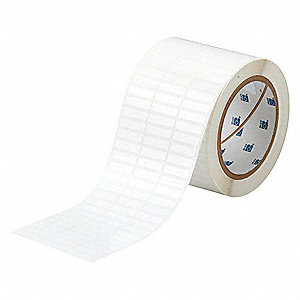 "White, 10,000 Labels per Roll H x 1"" W, 1 EA"