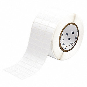 "White, 10,000 Labels per Roll  1/2"" H x 1"" W, 1 EA"