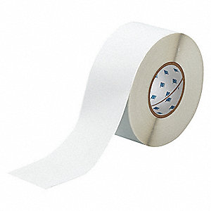"Silver Polyester Label Tape Cartridge, Metalized Polyester Label Type, 300 ft. Length, 3"" Width"