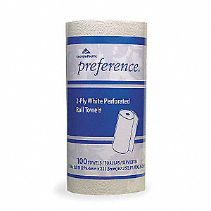 74 ft. 2-Ply Paper Towel Roll, White&#x3b; PK30