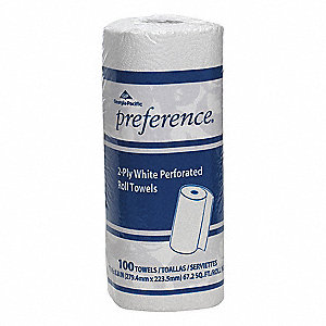 Preference® 74 ft. Perforated Roll, White, 30PK