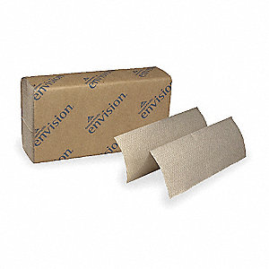 "9-3/16 x 9-3/8"" 1-Ply Multifold Paper Towel Envision®, Brown&#x3b; PK16"