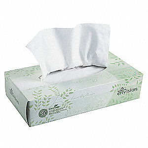 Facial Tissue,Envison,Flat Box,PK30