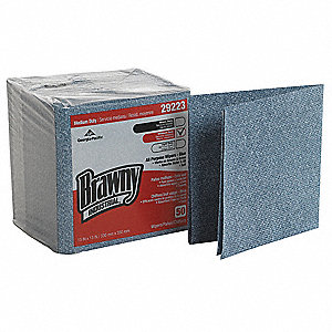 "Brawny® Professional Airlaid Disposable Wipes, 50 Ct. 13"" x 13"" Sheets, Blue"