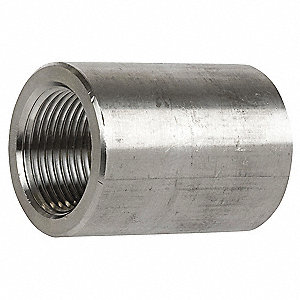 "304 Stainless Steel Coupling, FNPT, 3/8"" Pipe Size"