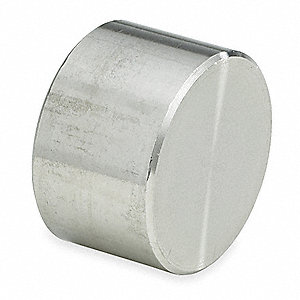 "304 Stainless Steel Cap, Socket Weld, 1/8"" Pipe Size - Pipe Fitting"