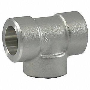 "304 Stainless Steel Tee, Socket Weld, 3/4"" Pipe Size - Pipe Fitting"