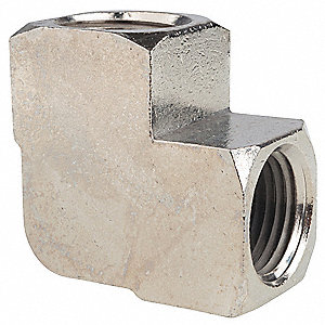 "Chrome Plated Brass Elbow, 90°, FNPT, 1/2"" Pipe Size - Pipe Fitting"