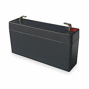 ABS Battery, Voltage 6, Battery Capacity 1.2Ah, Faston Terminal Type