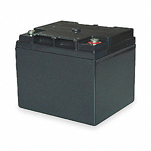 12VDC Sealed Lead Acid Battery, 40Ah, 10-32 Threaded Receptacle
