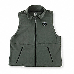 VEST MID LAYER THRML WGHT GRY-3XL