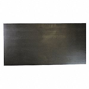 "Hypalon Rubber Sheet, 12""W x 3 ft.L x 1/8""Thick, 60A, Plain Backing Type, 350% Elongation, Black"