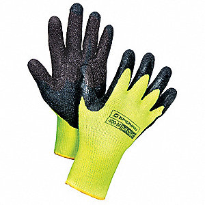 Cut Resistant Gloves,L,Black/Yellow,PR