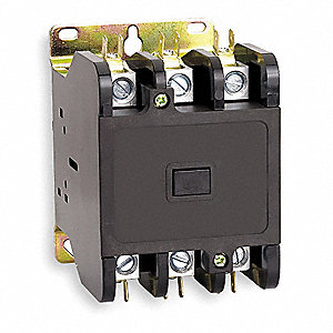 120VAC Open Definite Purpose Contactor, 75 Full Load Amps-Inductive, 3 Number of Poles