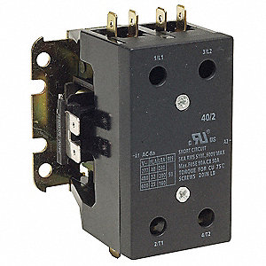 240VAC Open Contactor, 40 Full Load Amps-Inductive, 2 Number of Poles