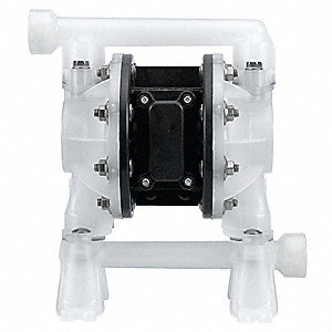 Polypropylene PTFE Single Double Diaphragm Pump, 15 gpm, 100 psi
