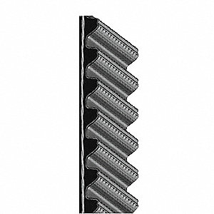 Synchronous Drive Gearbelt, Hawk Pd Gearbelt Type, Number of Teeth: 160, 8mm Pitch, 1280mm Pitch Len