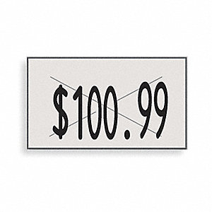 PRICING LABELS,1-LINE,WHITE,PK16