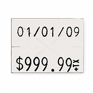 White Pricing Label Kit, Number of Lines 2