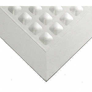 Autoclavable Mat, Gray, Nitrile Rubber, 3 ft. x 2 ft., 1 EA