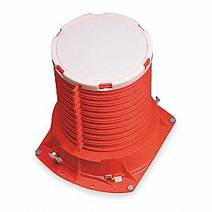 Pipe Cast-In Device, Plastic Pipe Application, Up to 3 hr. Fire Rating, Red/White